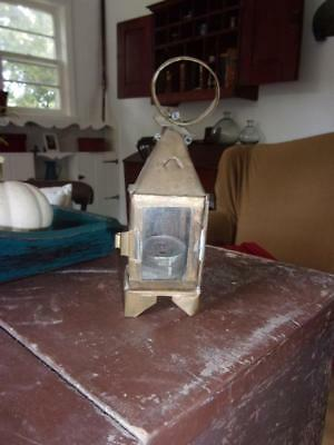 "Antique Primitive Lantern - 7"" so sweet, aafa old lighting - miniature"