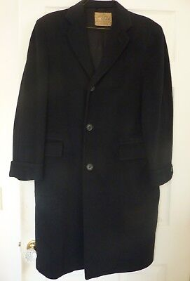 Finest 100% Pure VICUNA  BLACK Top COAT Overcoat Handmade NOT Cashmere