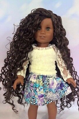 "10-11 Custom Doll Wig fit Blythe-American Girl-1/4 Size Doll ""Bistre"" bn3"