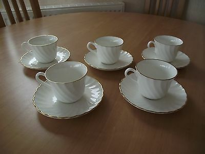 Wedgwood - `Gold Chelsea` Pattern - Duo (Cup & Saucer) - circa 1982-87