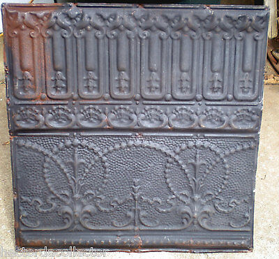 SALE  Antique Victorian Gothic Ceiling Tin Tile Pie Cupboard Cabinet Doors Chic