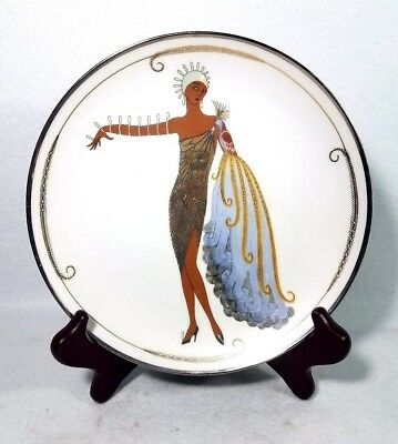"Franklin Mint House of Erte Limited Edition Diva II 8"" Plate No.HC4333"
