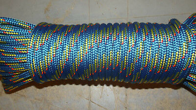 9mm (23/64) x 70' Halyard Line, Control Line, Double Braid Vectran, Boat Rope