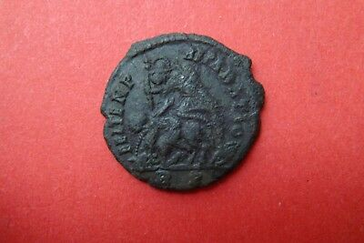 Roman small bronze coin, metal detecting find.