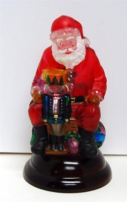 1992 Old World Santa with Nutcracker Glass Light NO BOX Excellent Condition