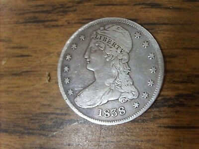 1838 Capped Bust Half Dollar US Coin High Grade