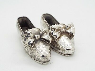 Hallmarked Sheffield 925 Sterling Silver Novelty Collectable Miniature Shoes