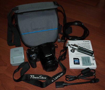 Canon PowerShot SX530 HS 16MP 50x Zoom Built-in Wi-Fi w/Case, Charger, More...