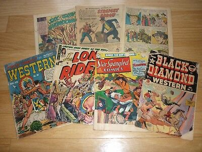 Large lot of low grade Western comics: Star Spangled Black Diamond Lone Rider