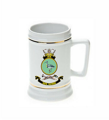 Hmas Ibis Royal Australian Navy Beer Stein (Image Fuzzy To Stop Web Theft)