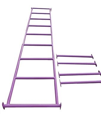 MONKEY BARS WITH 4 RUNGS - PURPLE Climbing Cubby House Playground Equipment