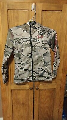 NWT. Under Armour Youth Storm Camo Fulll Zip size med