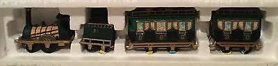 Dept 56 Dickens Village - The Flying Scot Train - 4 Pc Set Mint In Box Retired