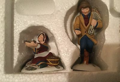 Dept 56 Dickens Village  A Treasure From The Sea  2 Pc Set Mint In Box Retired