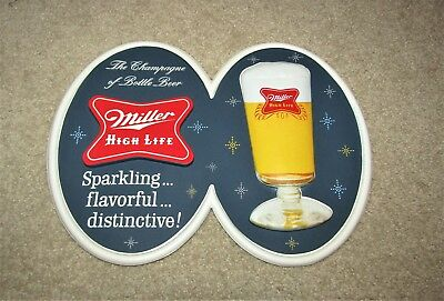 MILLER HIGH LIFE beer 1950's VACUUM-FORMed wall  F2047 NOS