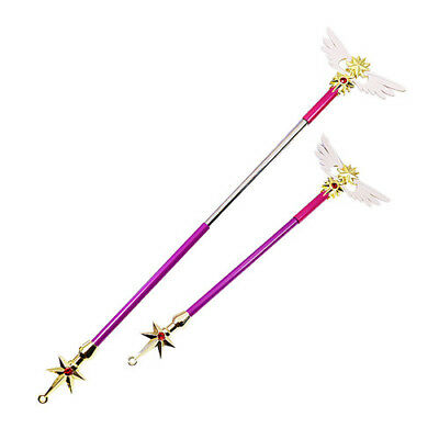 Card Captor Sakura Cosplay Props Flexible Wing Star Magic Stick Wand Xmas Gift