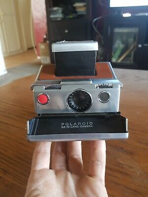 Vintage POLAROID SX-70 LAND CAMERA with Tan Leather Case (untested)