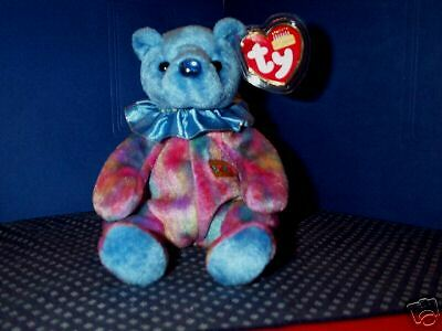 TY Beanie Baby babies bear Sapphire September Birthday Blue retired mint tags