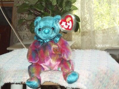 TY Beanie Baby babies bear Turquoise December Birthday Bear retired mint tags