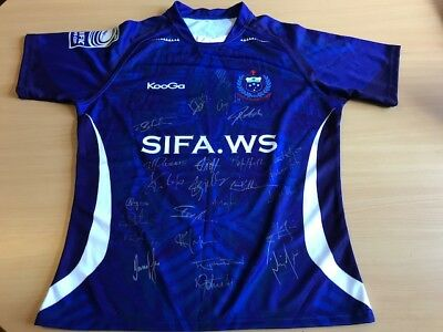 Signed Samoan Rugby Union Jersey – Pacific Nations Cup.