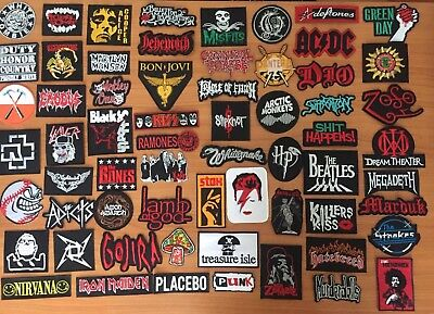 DIY Retro Indy Metal Punk Rock Music Band Sew Iron On Embroidered Patch Applique
