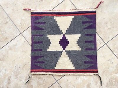 "Lot # 621.  Vintage Germantown Sampler Navajo Textile 19"" x 19"""