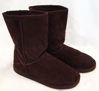 Boots Shoes Womens Size 9 Brown Suede Slip On Boots Shoes Arizona Boots Shoes