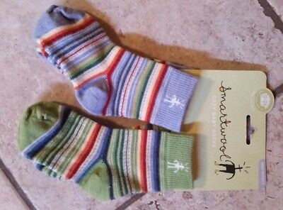 NWT New SMARTWOOL Baby Wooly's Socks Wool Blend 2 Pack 12 - 24 months