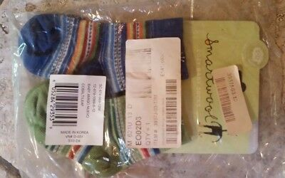 NWT New SMARTWOOL Baby Wooly's Socks Wool Blend 2 Pack 12 - 24 months Blue Green