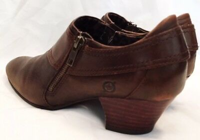 Ankle Boots Shoes Womens Size 6.5 Born Huntley In Cognac Boots Shoes Leather
