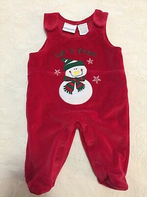 Infant Holiday Overall. Size Newborn. Miniwear Label. sc