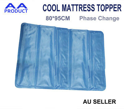 Summer Cool Mattress Topper Ice Pad Mat Cushion for Bed Sofa Large 80*95CM Blue