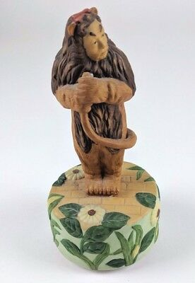 Vintage 1977 Schmid The Wizard Of Oz Lion Music Box Musical Figurine Rare