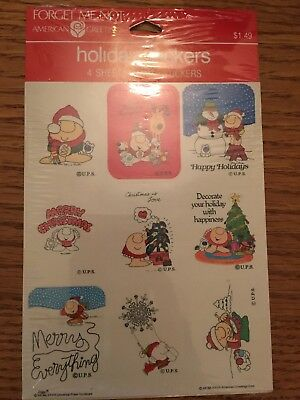 1983 Christmas Holiday Ziggy Stickers New American Greetings 4 sheets