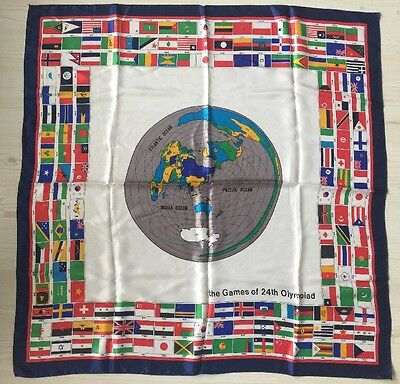 The Games of 24th Olympiad Silk Scarf Seoul South Korea Summer Games 1988