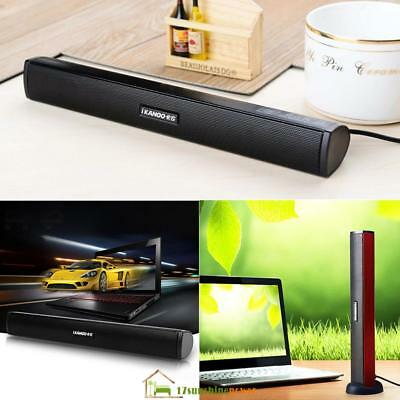 Portable USB Audio Dock Sound Bar Stereo Speaker for Laptop Computer PC Notebook