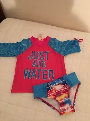 New Toddler Girls Two Piece Swimsuit From OP Sz 3T