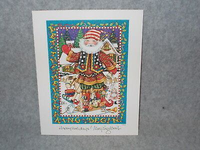 Mary Engelbreit Let The Merry Making Begin Christmas Santa 8x10 Picture Print