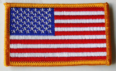 UNITED STATES FLAG USA WAVY ARM SHOULDER PATCH 2 X 3.25 INCHES