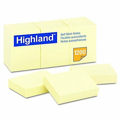 Post-It Memo Reminder Yellow Color Sticky Notes Easy Sticking 12 Pads 100 Sheets