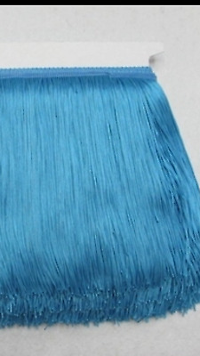 Blue 15cm Braid Trim Tassel Fringe Lace DIY Craft Clothing Price per 30cm Decor