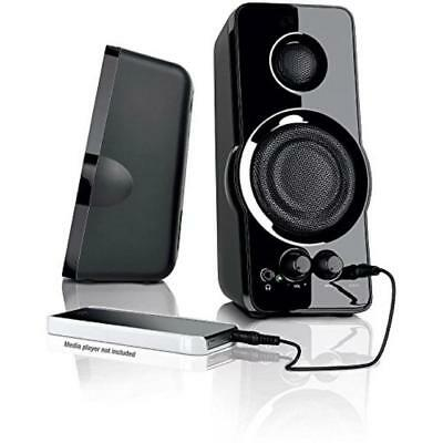 Blackweb Multi-Media PC Speaker w Power Bass Volume Control Aux. Input Powerful