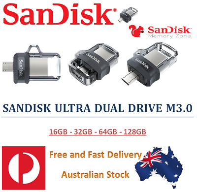 Sandisk Ultra Dual Drive M3.0 USB and Micro USB Flash Drive - OTG Android Mobile