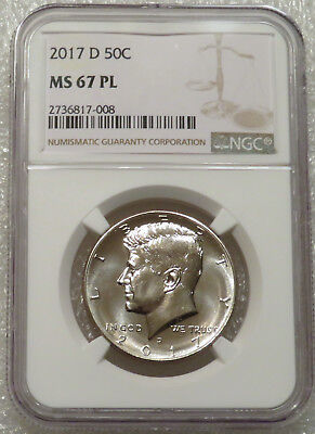 2017 D NGC MS 67 PL Kennedy 50c - Amazing Proof Like Deep Mirrored Fields SUPERB
