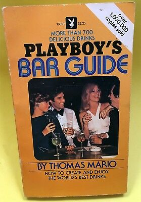 Vintage 1981 PLAYBOY Bar Guide book Femlin hefner cocktail spirits liquor bunny