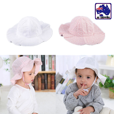 Toddler Girl Baby Kids Bucket Bonnet Hat Summer Cap Beach Sun Outdoor CAHA989