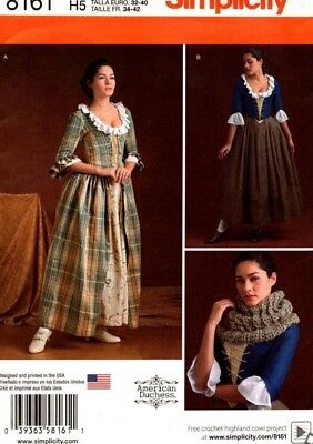 Simplicity Sewing Pattern 8161 Misses' 18th Century Costumes 14-22 NEW