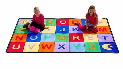 "Learning Carpets Alphabet Grid, Primary Colors, 5'10"" x 8'5"""