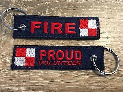 Fire, Keychain, Firefighter, Volunteer, Proud, Australia, Embroidery