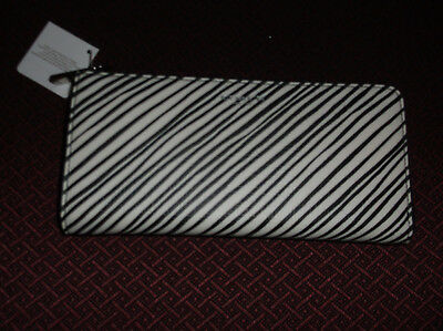 Authentic Coach Bleeker Zebra Wallet.      Black White      New with tags